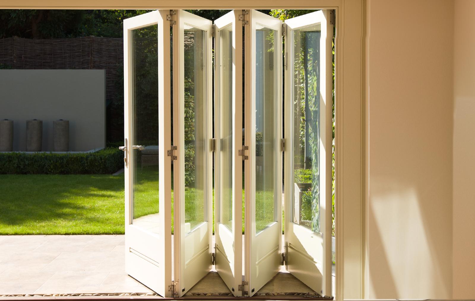 5-door set of folding sliding doors