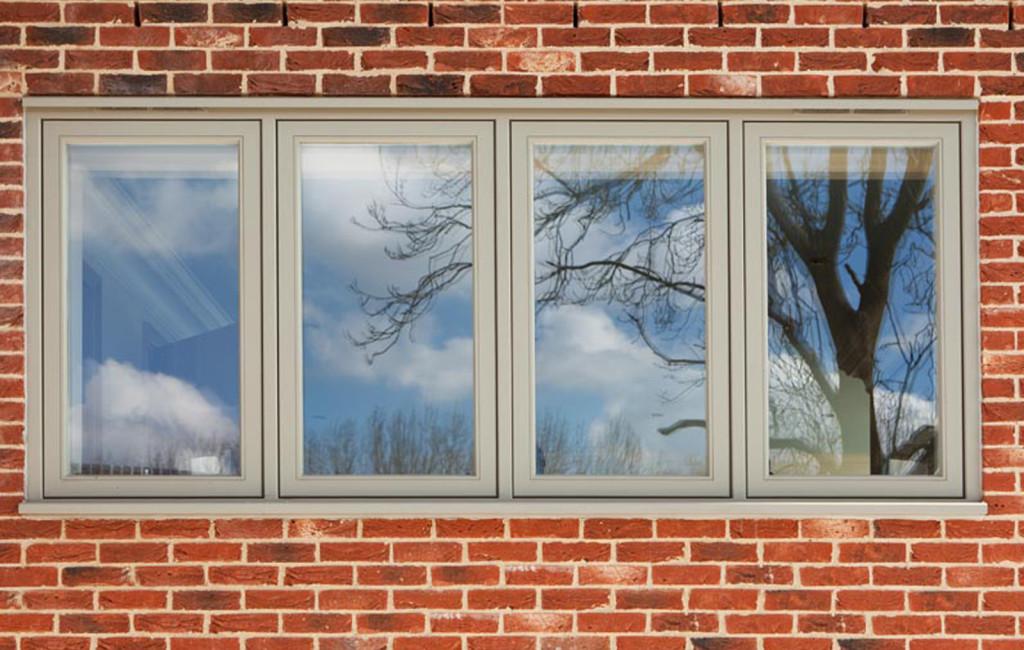 Plain glazing to a set of casement windows