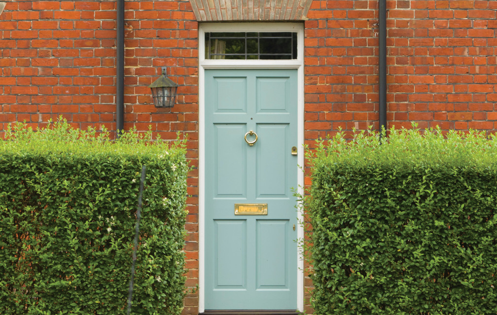 A traditional entrance door with beautiful moulded panels