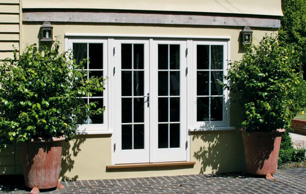 French Doors flanked by casement windows creating light to internal spaces