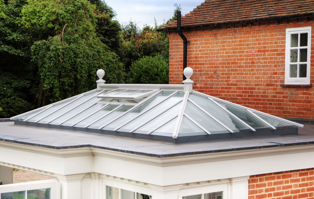 Exterior of a hipped roof lantern by Westbury