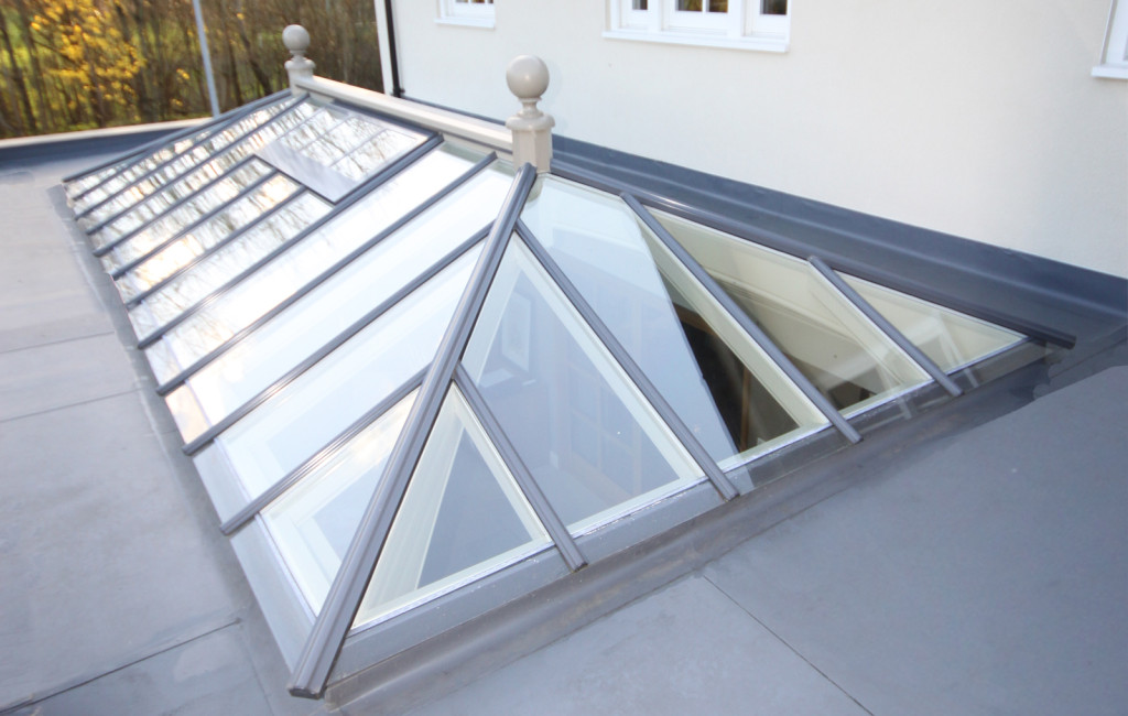 External image of a roof lantern with dual colours