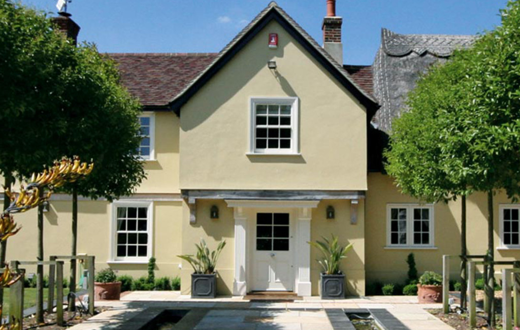 Sliding sash windows perfectly suited to this magnificent property