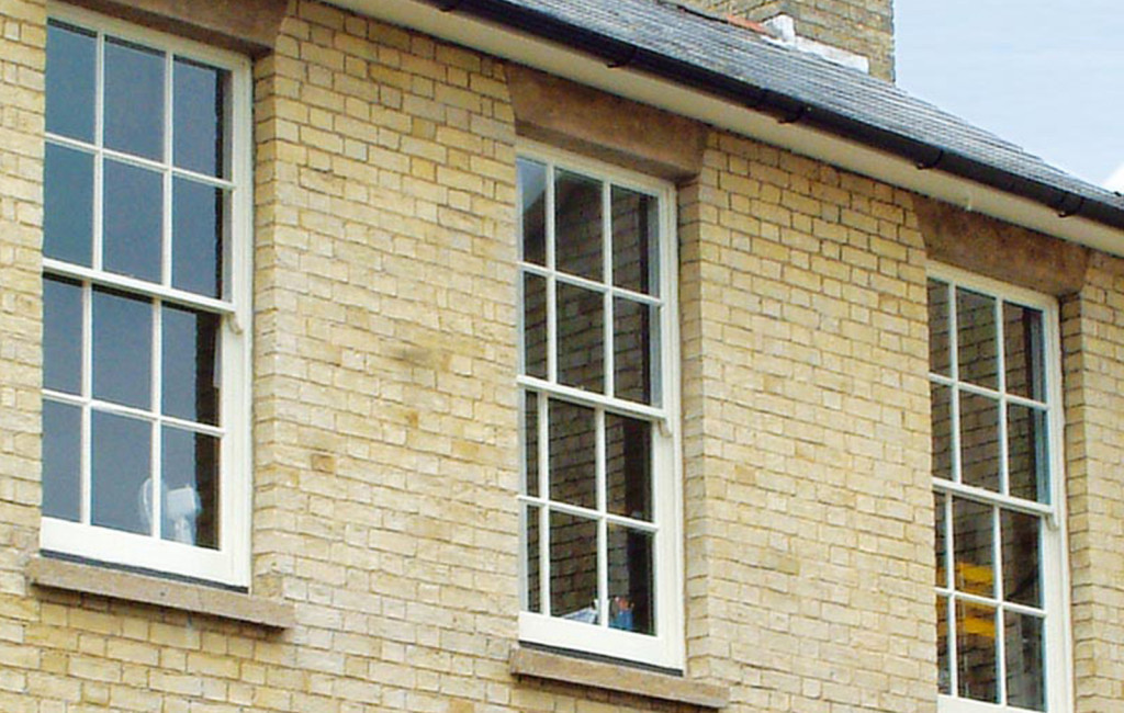 Beautifully example of refined sliding sash windows