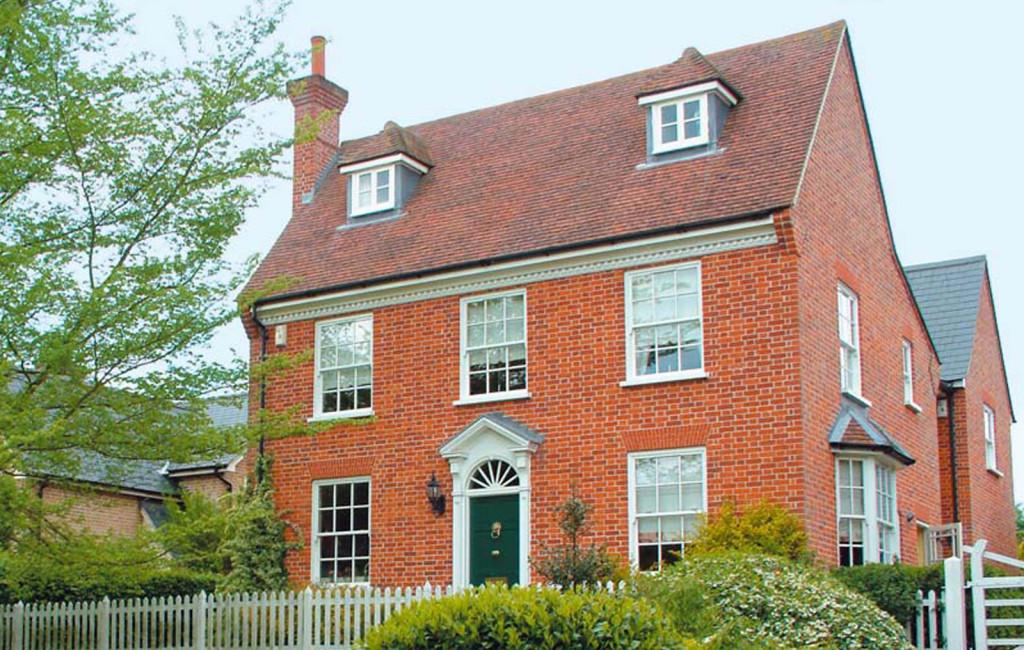 Stunning sliding sash window installation to a brick house