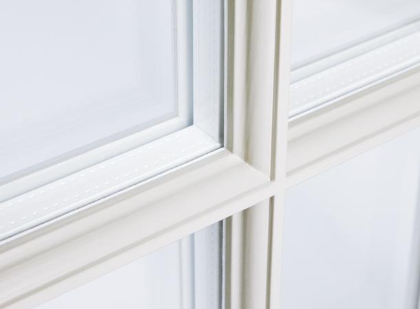 Glazing bar detail to a sliding sash window by Westbury