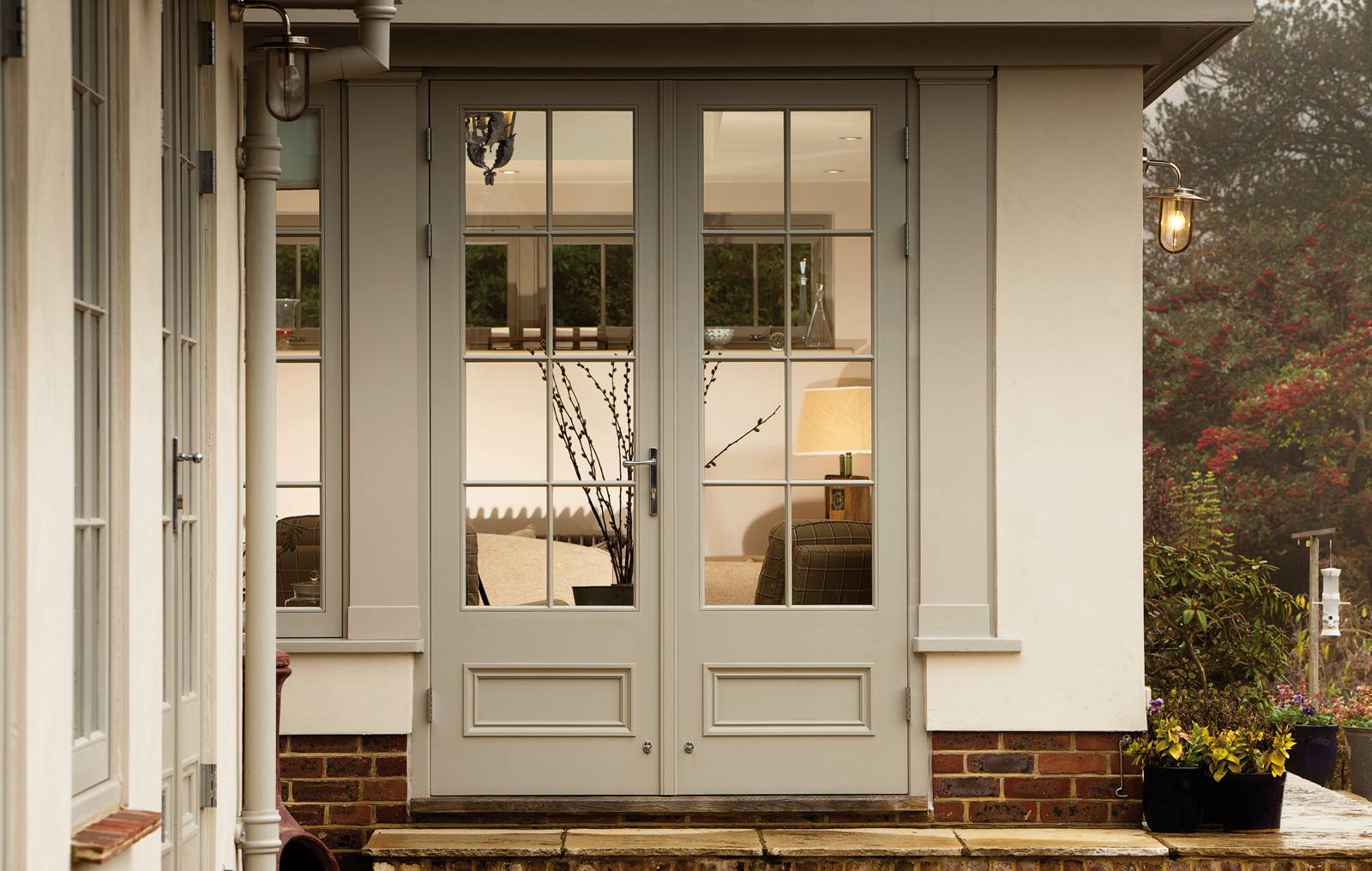 Sturdy french doors with sliding door design combined for French window design