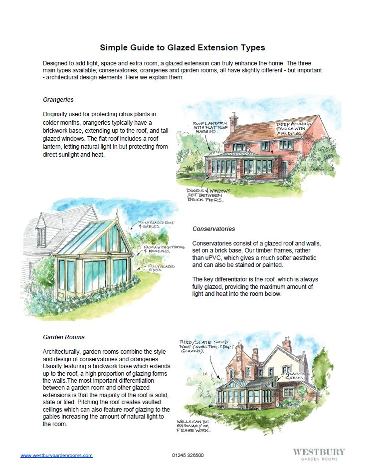 Simple Guide to Glazed Extensions - from Westbury Garden Rooms
