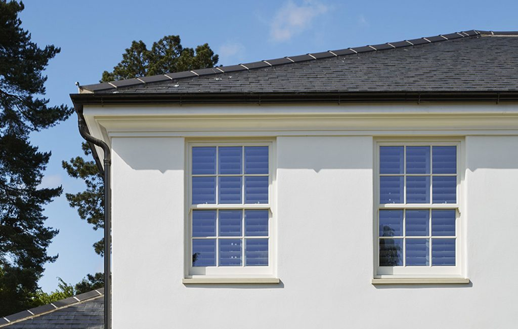 6 over 6 sash window