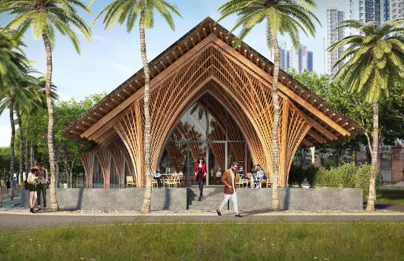 Ting Xi bamboo pavilion - westbury joinery pick